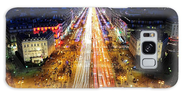Holiday Lights On The Champs-elysees Galaxy Case