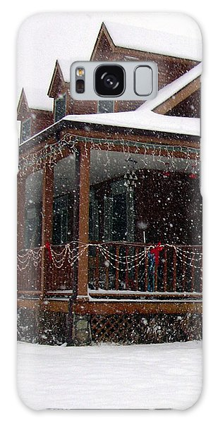 Holiday Porch Galaxy Case by Claudia Goodell