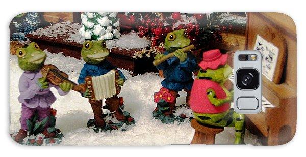 Holiday Recital By The Frogs Galaxy Case by Judyann Matthews