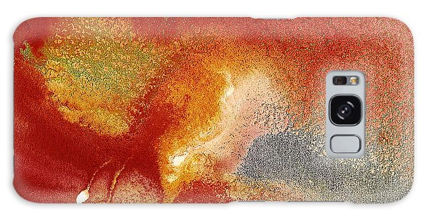 Holiday - Red Silver Gold Abstract Art By Kredart Galaxy Case