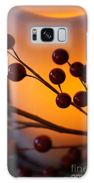 Holiday Warmth By Candlelight 1 Galaxy Case by Linda Shafer