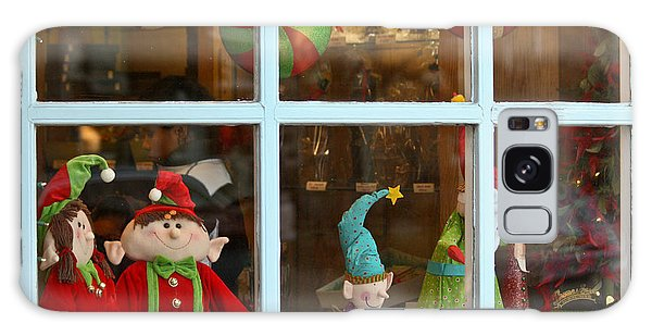 Galaxy Case featuring the photograph Holiday Window by Ann Murphy