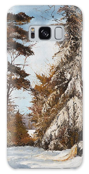 Holland Lake Lodge Road - Montana Galaxy Case by Mary Ellen Anderson
