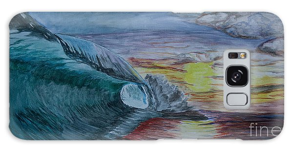 Hollow Wave At Sunset Galaxy Case