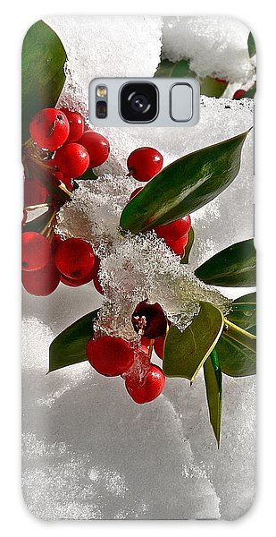 Holly Berries Galaxy Case