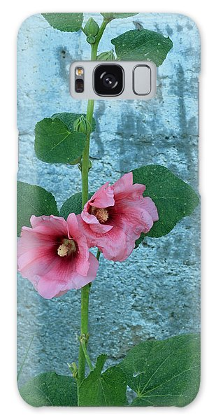 Hollyhock Galaxy Case by E Faithe Lester