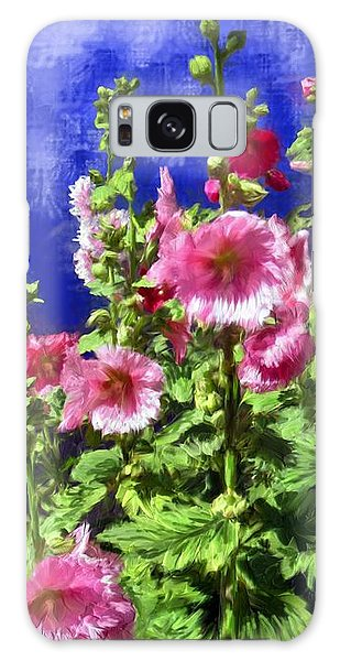 Hollyhock Haven Galaxy Case by Ric Darrell
