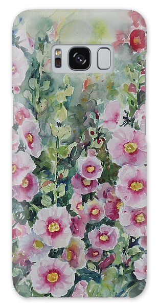 Hollyhocks Galaxy Case