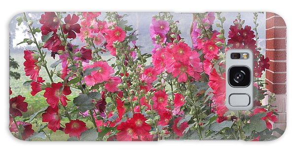 Hollyhocks Mix Galaxy Case
