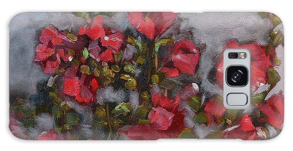 Hollyhocks Galaxy Case by Pattie Wall