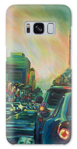Hollywood Sunshower Galaxy Case