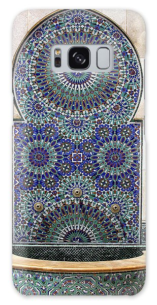 Holy Water Fountain Hassan II Mosque Sour Jdid Casablanca Morocco  Galaxy Case