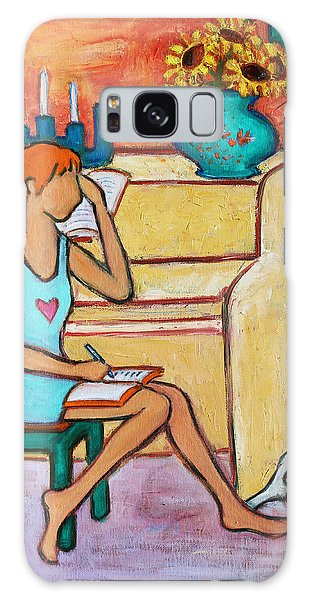 Galaxy Case featuring the painting Home Where My Heart Is Iv by Xueling Zou