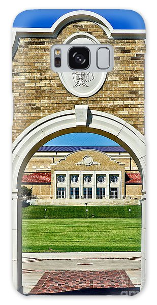 Galaxy Case featuring the photograph Homecoming Bonfire Arch by Mae Wertz