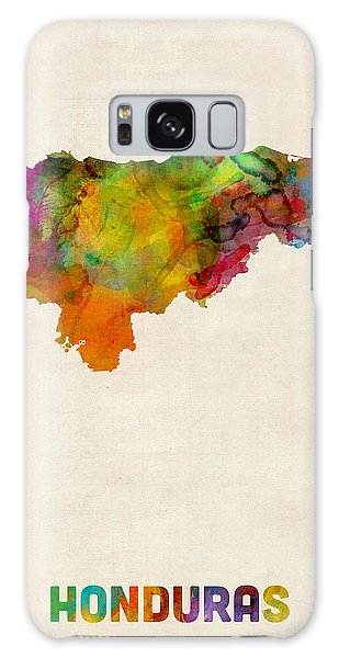 Honduras Watercolor Map Galaxy Case