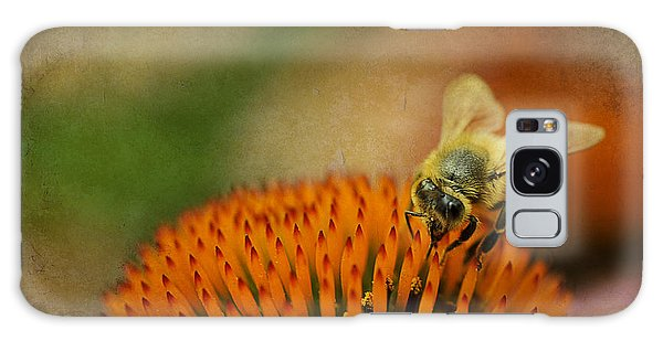 Galaxy Case featuring the photograph Honey Bee On Flower by Dan Friend
