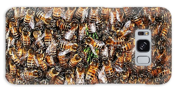 Honey Bee Swarm Galaxy Case by Tom Janca