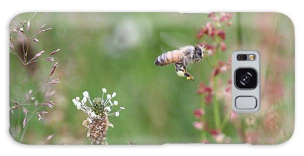 Honeybee Flying In A Meadow Galaxy Case by Lucinda VanVleck