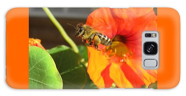 Honeybee Leaving Nasturtium With A Full Pollen Basket Galaxy Case