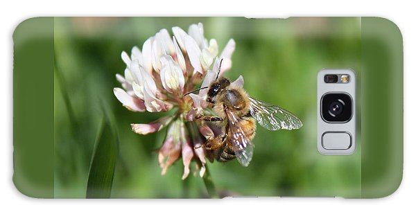 Honeybee On Clover Galaxy Case by Lucinda VanVleck