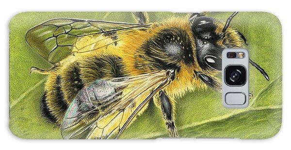 Hyper-realistic Galaxy Case - Honeybee On Leaf by Sarah Batalka