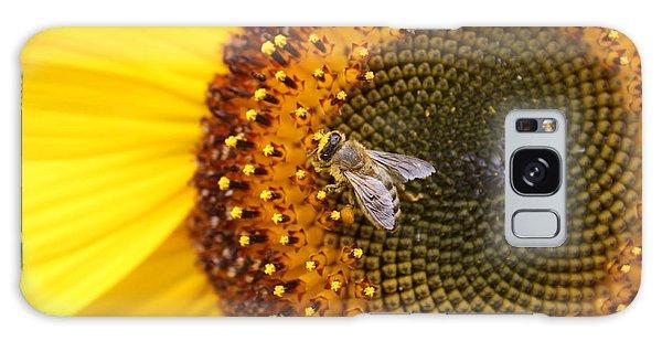 Honeybee On Sunflower Galaxy Case