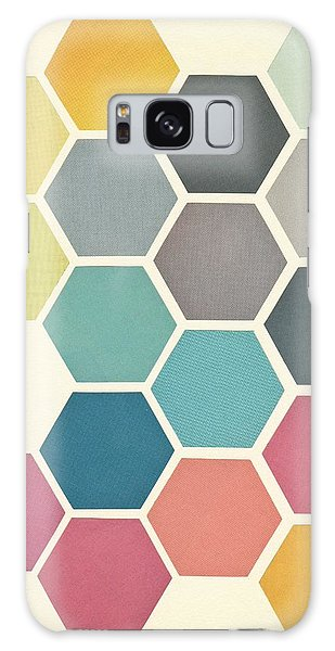Shapes Galaxy Case - Honeycomb II by Cassia Beck
