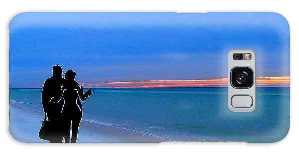 Honeymooners At Dawn On Pensacola Beach Galaxy Case by Cindy Croal