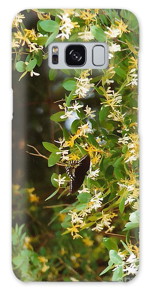 Honeysuckle And Butterfly  Galaxy Case by Jesse Ciazza