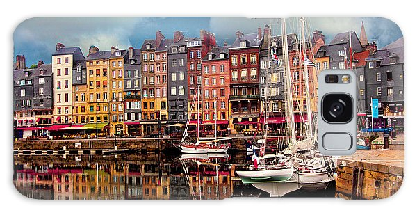 Honfleur Harbor Galaxy Case