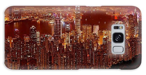 Hong Kong In Golden Brown Galaxy Case