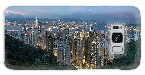 Hong Kong From Sky Terrace 428 At Victoria Peak Galaxy Case