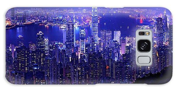 Hong Kong In Purple Galaxy Case