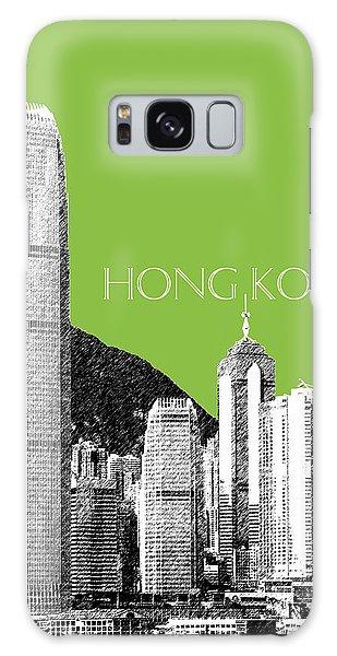 Hong Kong Galaxy S8 Case - Hong Kong Skyline 1 - Olive by DB Artist