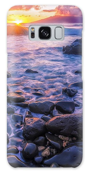 Honolua Sunset Galaxy Case by Hawaii  Fine Art Photography