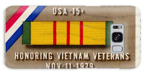 Honoring Vietnam Veterans Service Medal Postage Stamp Galaxy Case