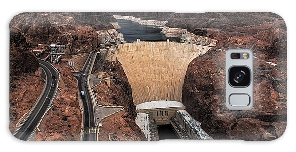Desert View Tower Galaxy Case - Hoover Dam by Paul Freidlund