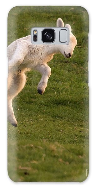 Sheep Galaxy Case - Hop Hop Hop by Angel Ciesniarska