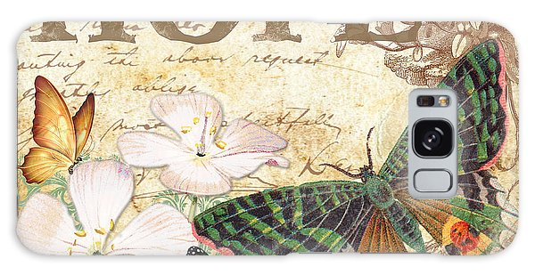Hope And Butterflies Galaxy Case by Jean Plout