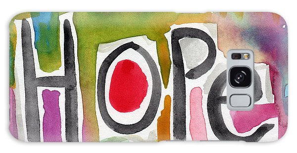 Motivational Galaxy Case - Hope- Colorful Abstract Painting by Linda Woods