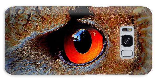 Horned Owl Eye Galaxy Case by David Mckinney