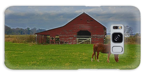 Horse And Barn Galaxy Case