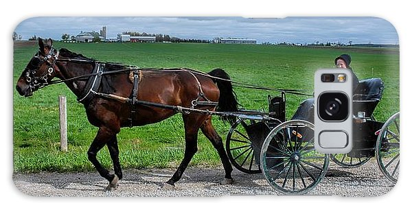 Horse And Buggy On The Farm Galaxy Case