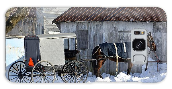 Horse And Buggy Parked Galaxy Case