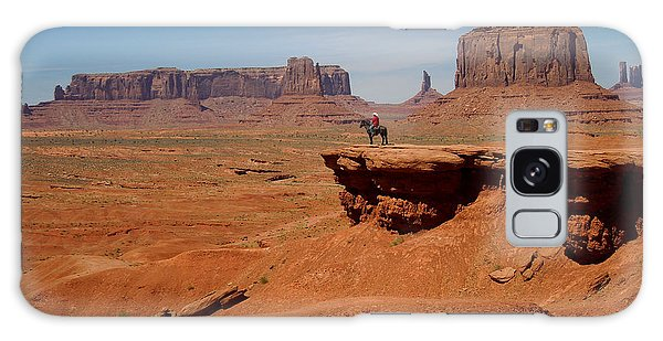 Horse And Rider In Monument Valley Galaxy Case