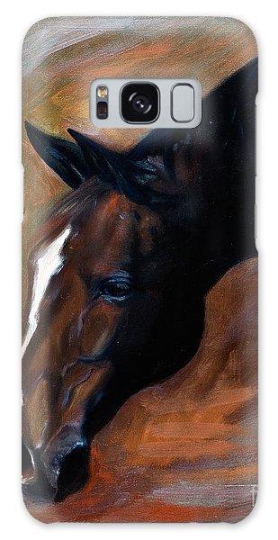 horse - Apple copper Galaxy Case