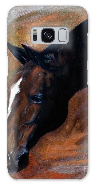 horse - Apple copper Galaxy Case by Go Van Kampen