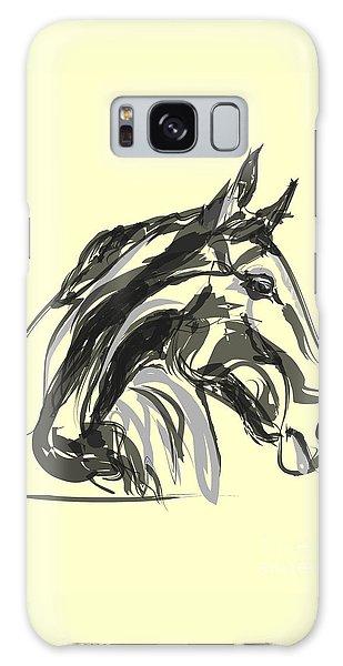 horse - Apple digital Galaxy Case by Go Van Kampen