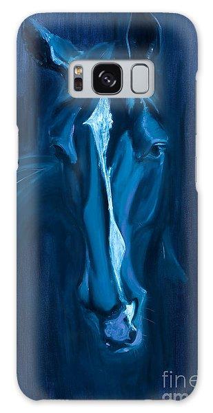 horse - Apple indigo Galaxy Case by Go Van Kampen
