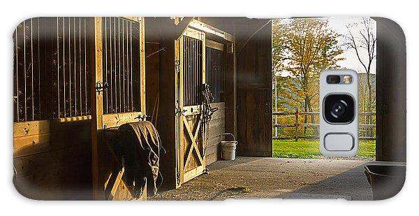Horse Barn Sunset Galaxy Case